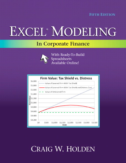 Excel Modeling in Corporate Finance, 5th Edition