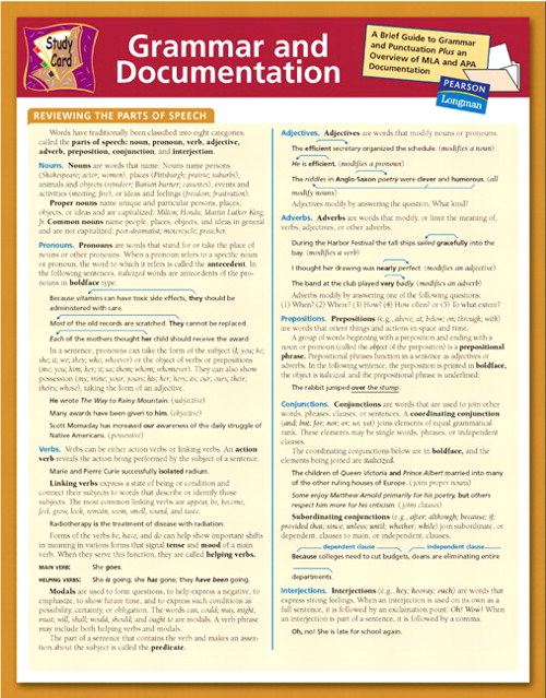Cover image for Study Card for Grammar and Documentation