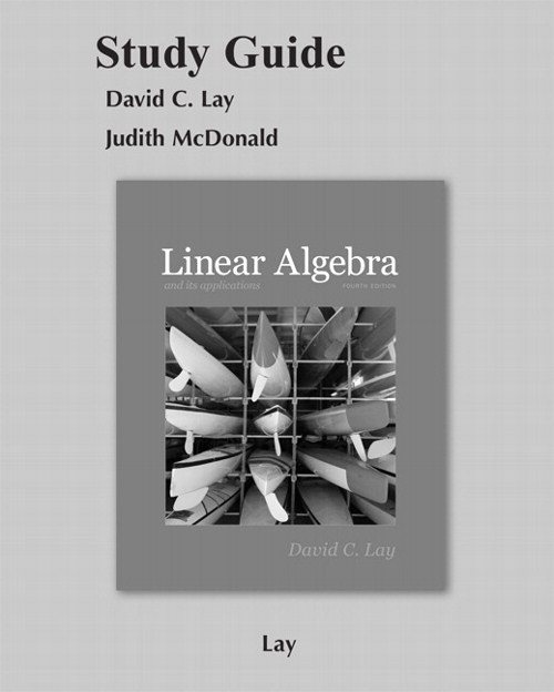 Cover image for Student Study Guide for Linear Algebra and Its Applications, 4th Edition