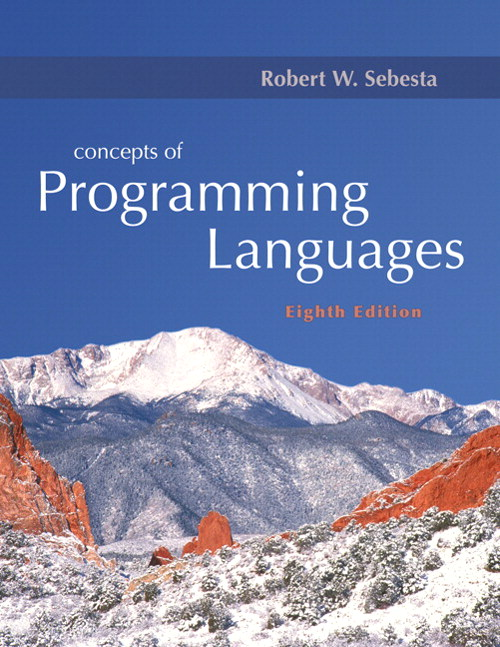 Concepts of Programming Languages, 8th Edition