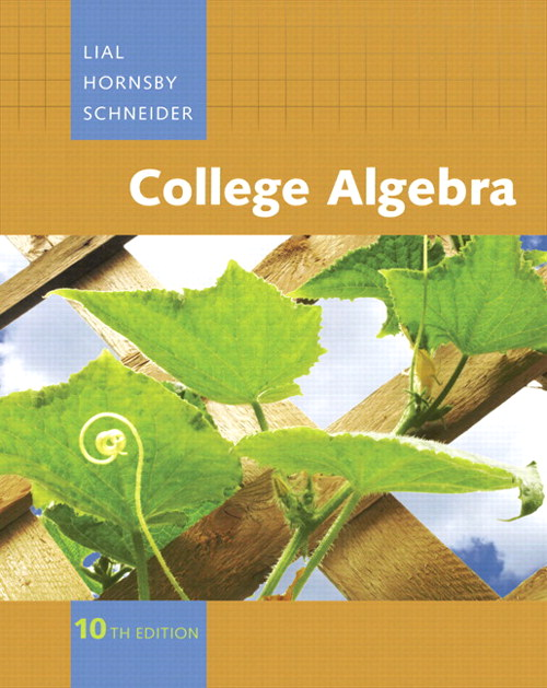 College Algebra, CourseSmart eTextbook, 10th Edition