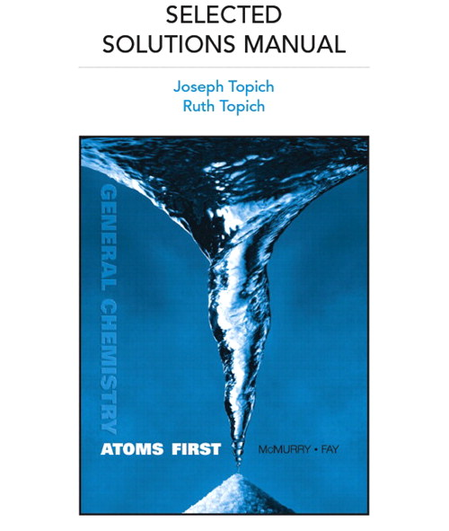 Cover image for Selected Solutions Manual for General Chemistry: Atoms First