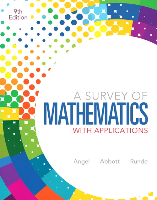 Survey of Mathematics with Applications, A, CourseSmart eTextbook, 9th Edition