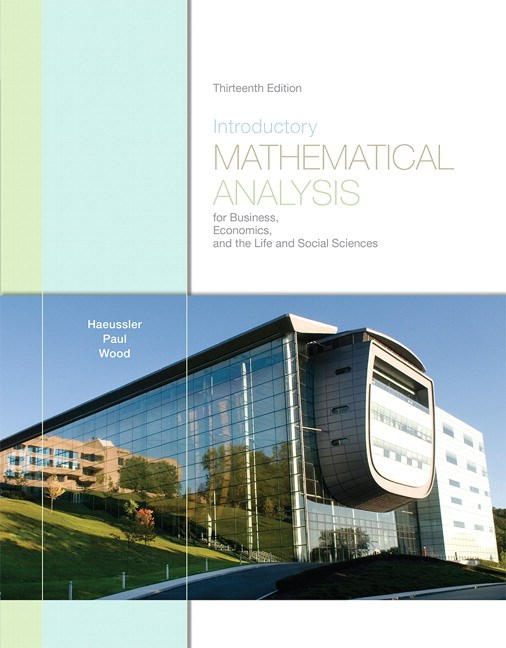 Introductory Mathematical Analysis for Business, Economics, and the Life and Social Sciences, CourseSmart eTextbook, 13th Edition