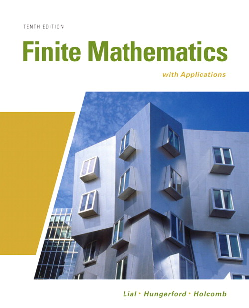 Finite Mathematics with Applications, CourseSmart eTextbook