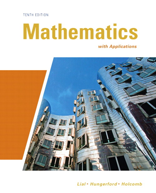 Mathematics with Applications, CourseSmart eTextbook, 10th Edition