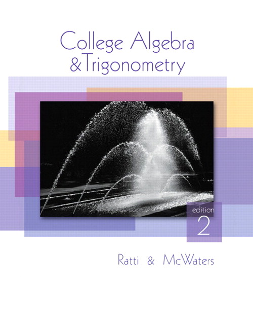 College Algebra and Trigonometry, CourseSmart eTextbook, 2nd Edition
