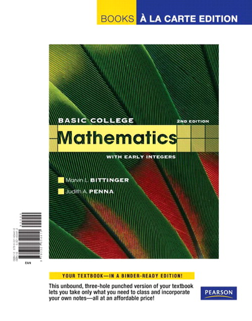 Basic College Mathematics with Early Integers, Books a la Carte Edition, 2nd Edition