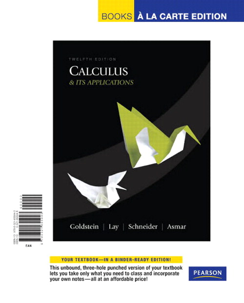 Calculus & Its Applications, Books a la Carte Edition, 12th Edition
