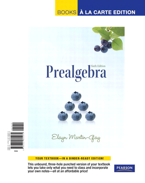 Prealgebra, Books a la Carte Edition, 6th Edition