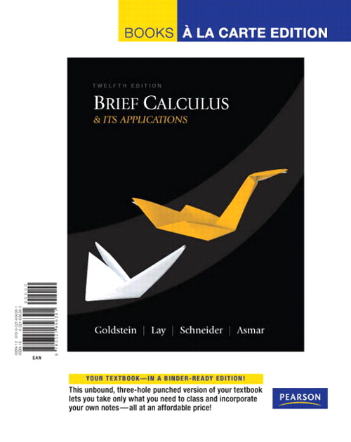 Brief Calculus & Its Applications, Books a la Carte Edition, 12th Edition