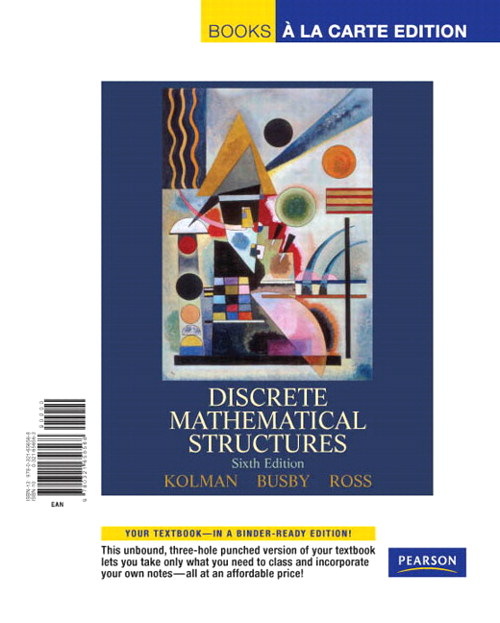 Discrete Mathematical Structures, Books a la Carte Edition, 6th Edition