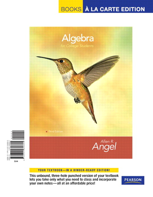 Algebra for College Students, Books a la Carte Edition, 3rd Edition