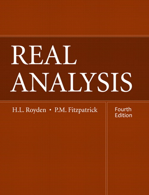 Real Analysis, CourseSmart eTextbook, 4th Edition