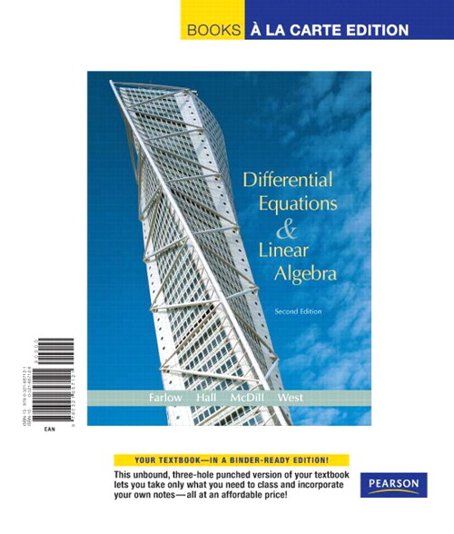 Differential Equations and Linear Algebra, Books a la Carte Edition, 2nd Edition