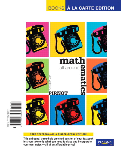 Mathematics All Around, Books a la Carte Edition, 4th Edition