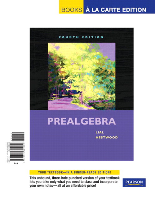 Prealgebra, Books a la Carte Edition, 4th Edition