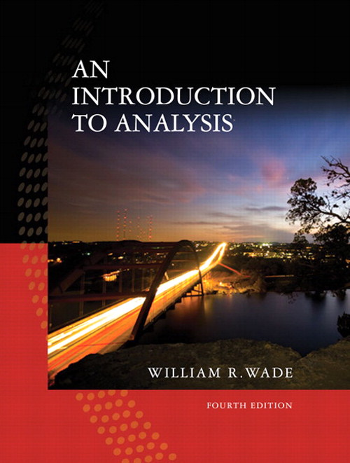 Introduction to Analysis, Coursesmart eTextbook, 4th Edition