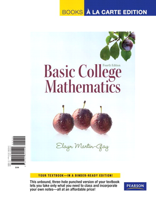 Basic College Mathematics, Books a la Carte Edition, 4th Edition