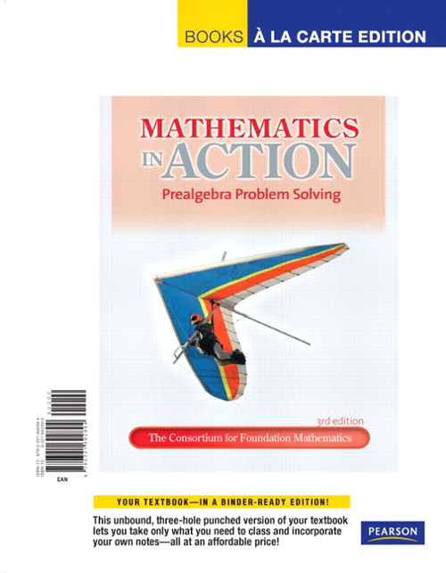 Mathematics in Action: Prealgebra Problem Solving, Books a la Carte Edition, 3rd Edition