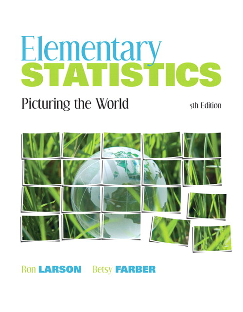 Elementary Statistics: Picturing the World, CourseSmart eTextbook, 5th Edition