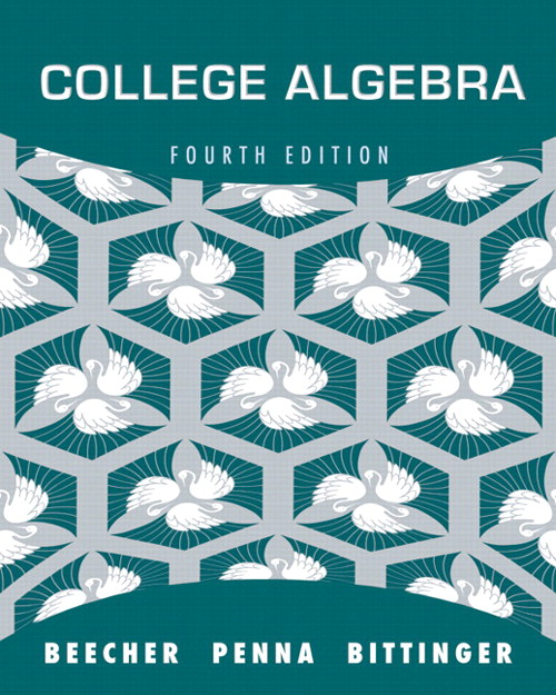 College Algebra, 4th Edition
