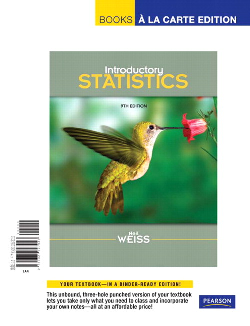 Introductory Statistics, Books a la Carte Edition, 9th Edition