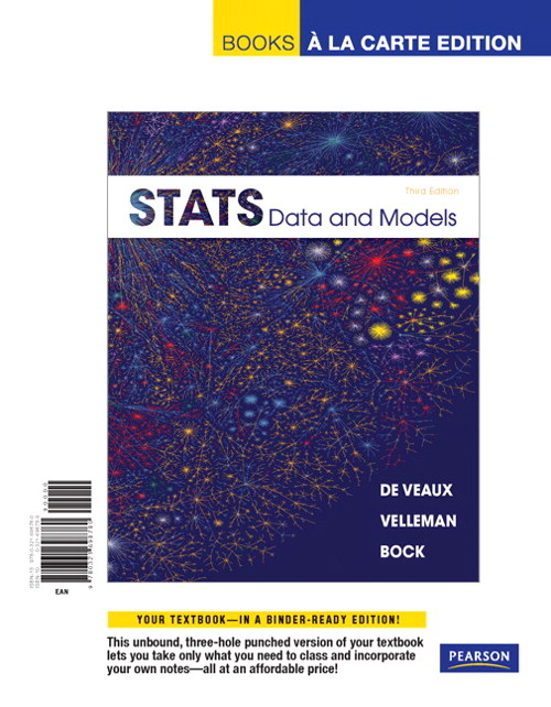 Stats: Data and Models, Books a la Carte Edition, 3rd Edition
