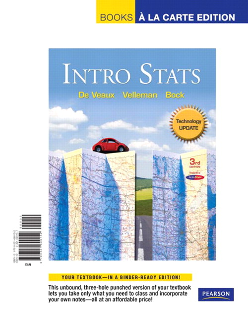 Intro Stats Technology Update,  Books a la Carte Edition, 3rd Edition