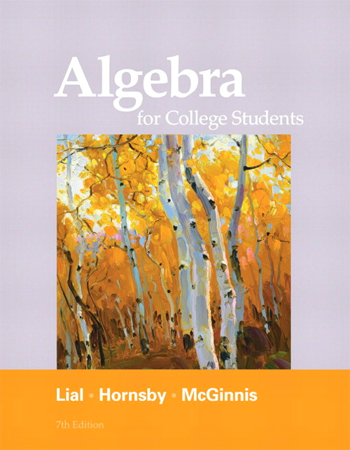 Algebra for College Students, 7th Edition