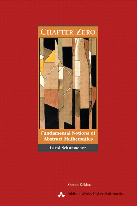 Chapter Zero: Fundamental Notions of Abstract Mathematics, CourseSmart eTextbook, 2nd Edition