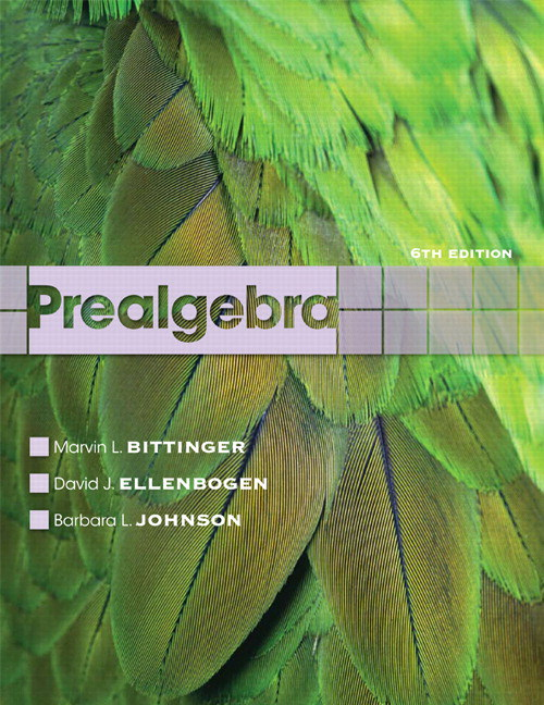 Prealgebra, 6th Edition