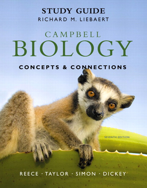 Cover image for Study Guide for Campbell Biology: Concepts & Connections, 7th Edition