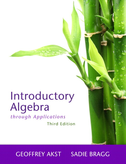Introductory Algebra Through Applications, 3rd Edition