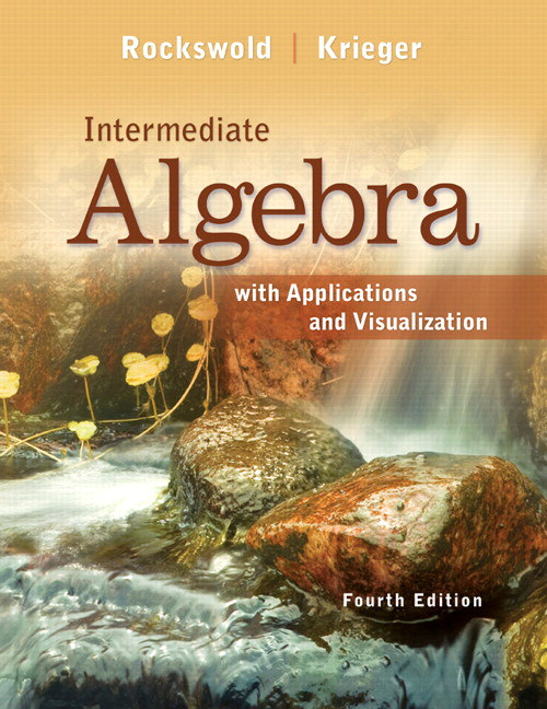Intermediate Algebra with Applications & Visualization, CourseSmart eTextbook, 4th Edition