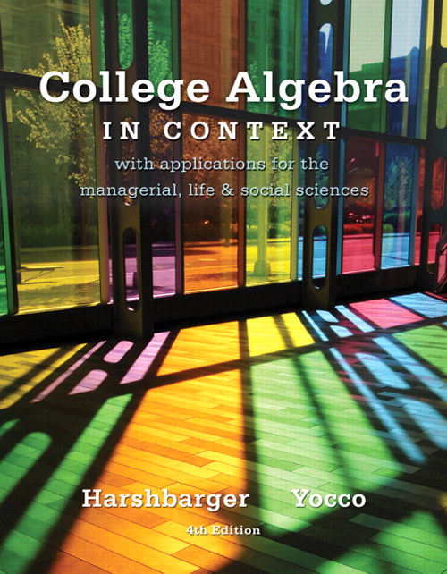 College Algebra in Context, 4th Edition