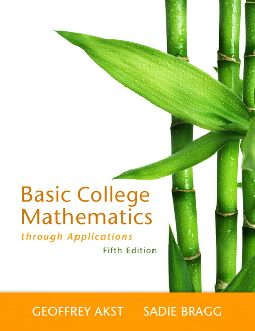 Basic College Mathematics through Applications, CourseSmart eTextbook, 5th Edition