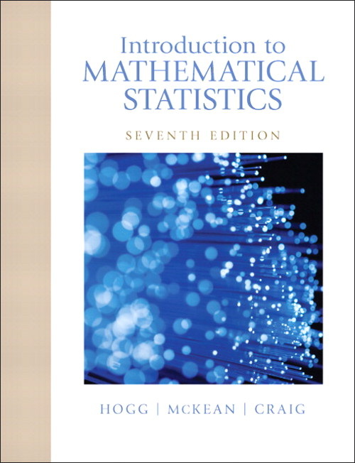 Introduction to Mathematical Statistics, CourseSmart eTextbook, 7th Edition