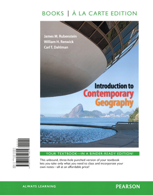 Introduction to Contemporary Geography, Books a la Carte Edition