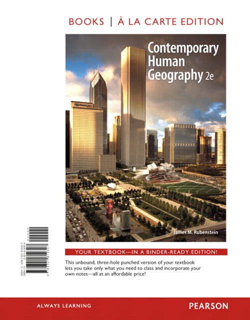 Contemporary Human Geography, Books a la Carte Plus Mastering Geography with eText -- Access Card Package, 2nd Edition