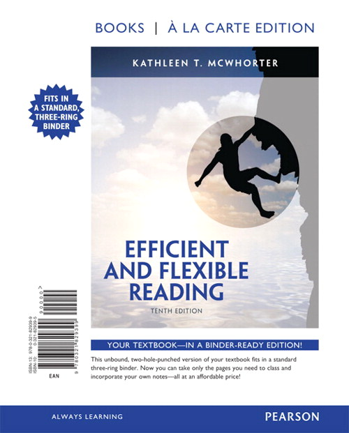 Efficient and Flexible Reading, Books a la Carte Edition, 10th Edition
