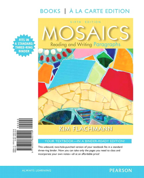 Mosaics: Reading and Writing Paragraphs, Books a la Carte Edition, 6th Edition