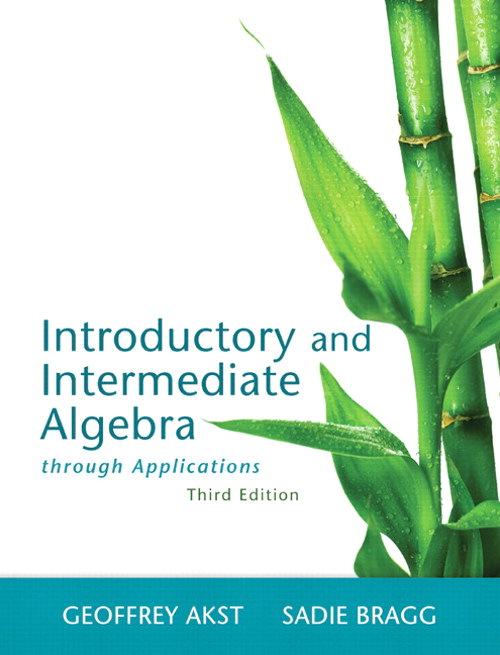Introductory and Intermediate Algebra through Applications,  CourseSmart eTextbook, 3rd Edition