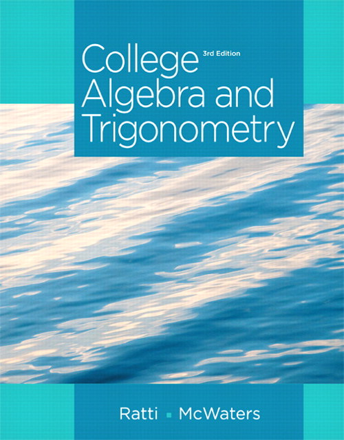 College Algebra and Trigonometry, CourseSmart eTextbook, 3rd Edition