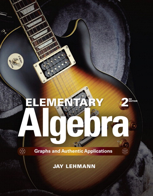 Elementary Algebra: Functions and Authentic Applications, CourseSmart eBook, 2nd Edition