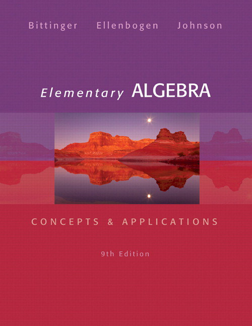 Elementary Algebra: Concepts & Applications, 9th Edition