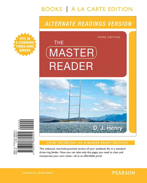 The Master Reader, Alternate Edition, Books a La Carte Edition, 3rd Edition