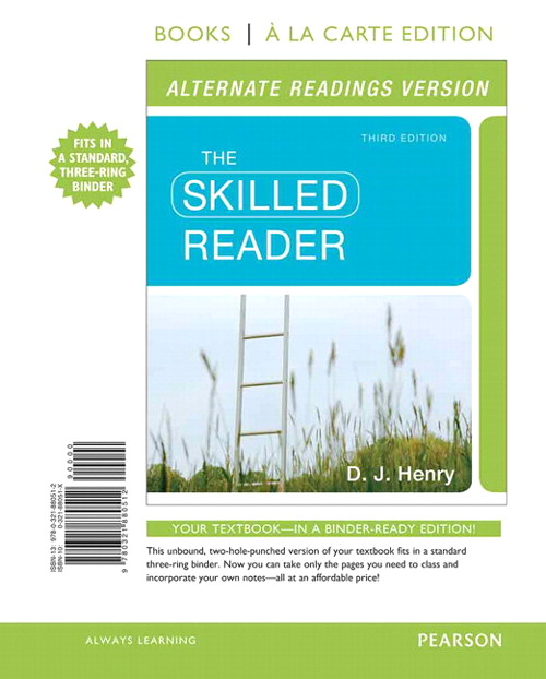 The Skilled Reader, Alternate Edition, Books a la Carte Edition, 3rd Edition