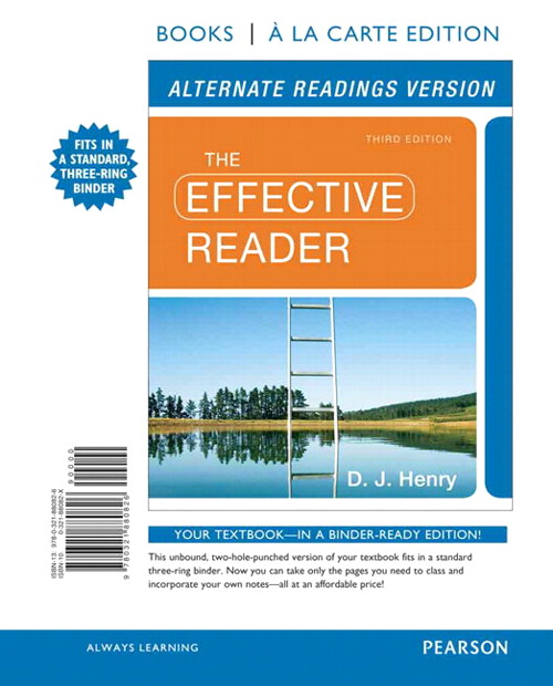 The Effective Reader, Alternate Edition, Books a la Carte Edition, 3rd Edition
