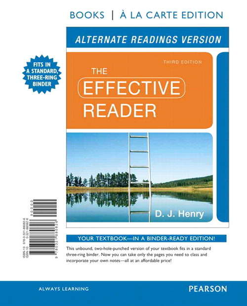 Effective Reader, The, Alternate Edition, Books a la Carte Plus NEW MyReadingLab with eText -- Access Card Package, 3rd Edition